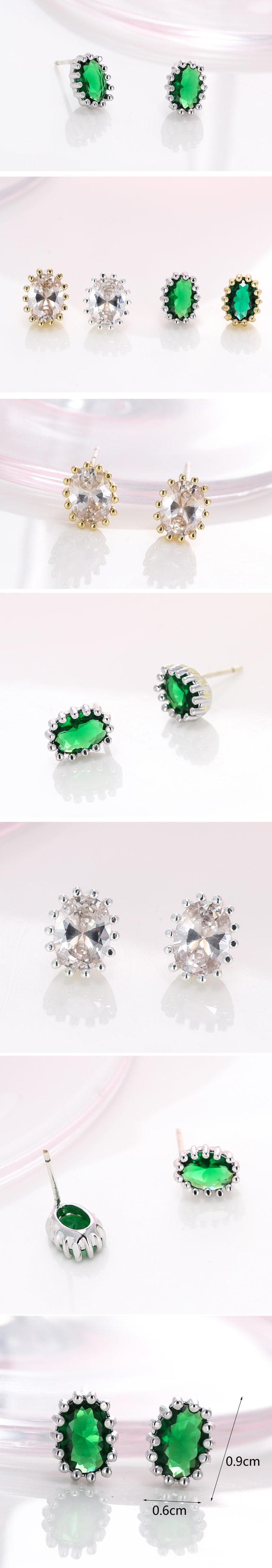 Fashion jewelry delicate Korean fashion sweet gem earrings NHSC200920