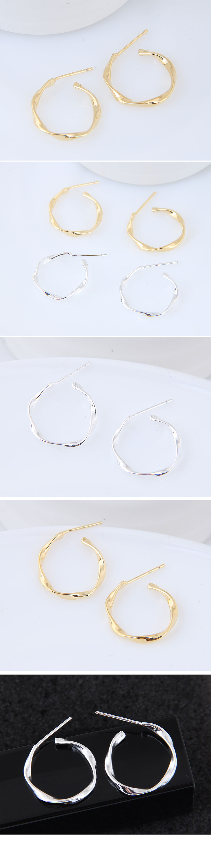 Fashion jewelry exquisite Korean fashion sweet OL simple circle earrings NHSC200919