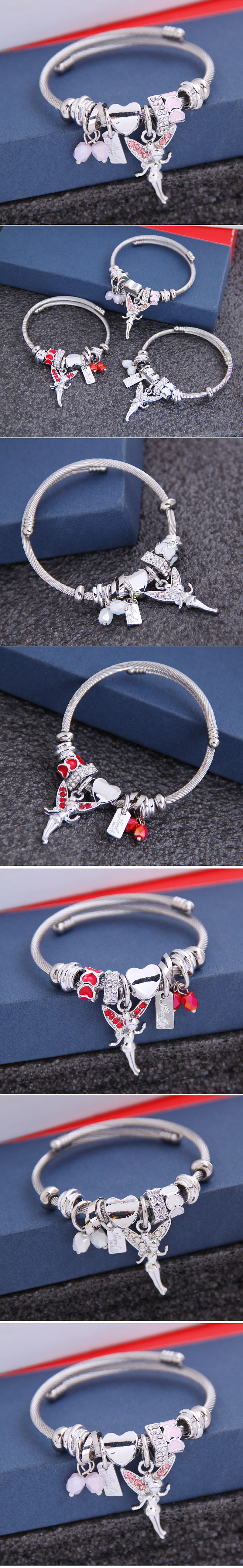 fashion metal wild pan DL simple wild ballet girl pendant multi-element accessories personalized bracelet wholesale nihaojewelry NHSC219338