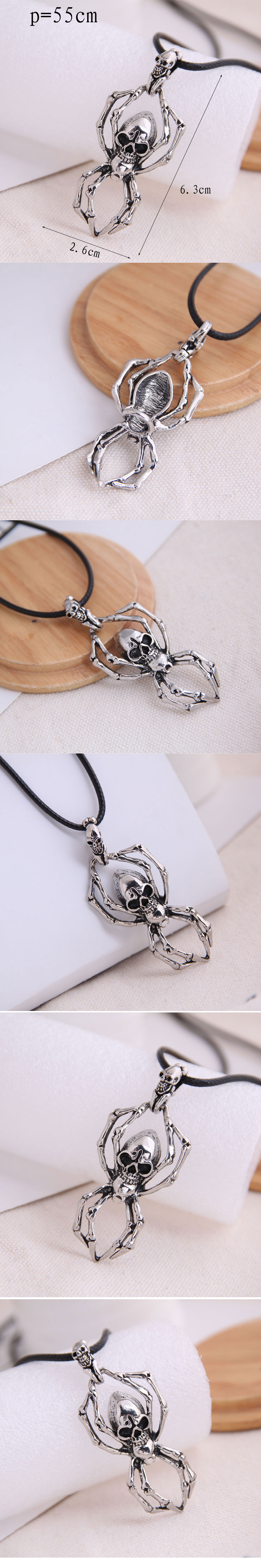 fashion retro trend men's domineering retro skull exaggerated necklace wholesale nihaojewelry NHSC221082