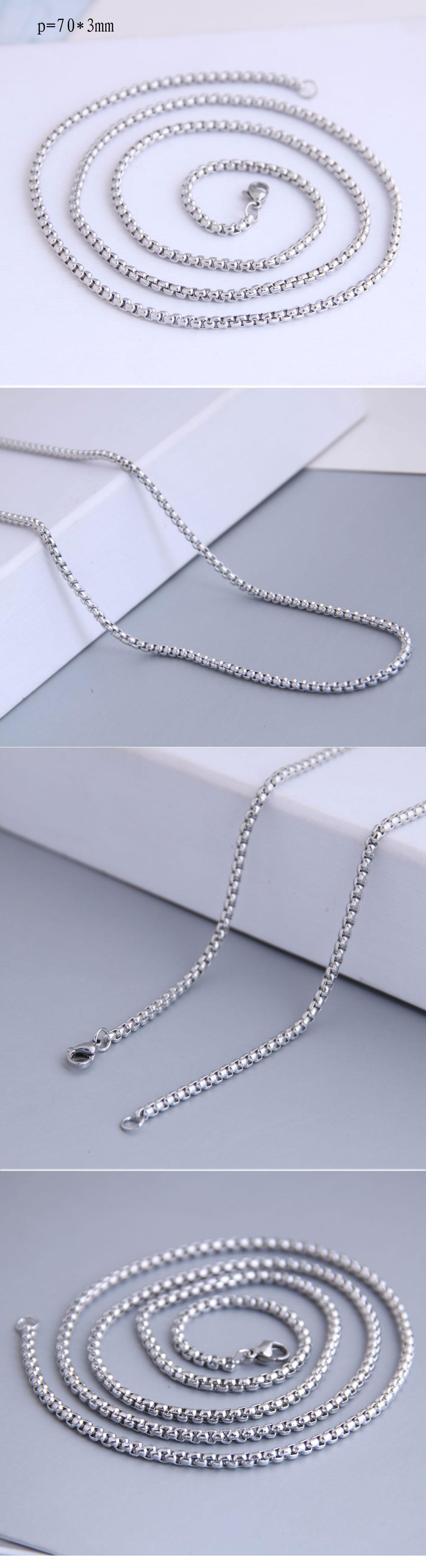 fashion Stainless steel corn chain distribution chain men's necklace distribution chain wholesale nihaojewelry NHSC221077