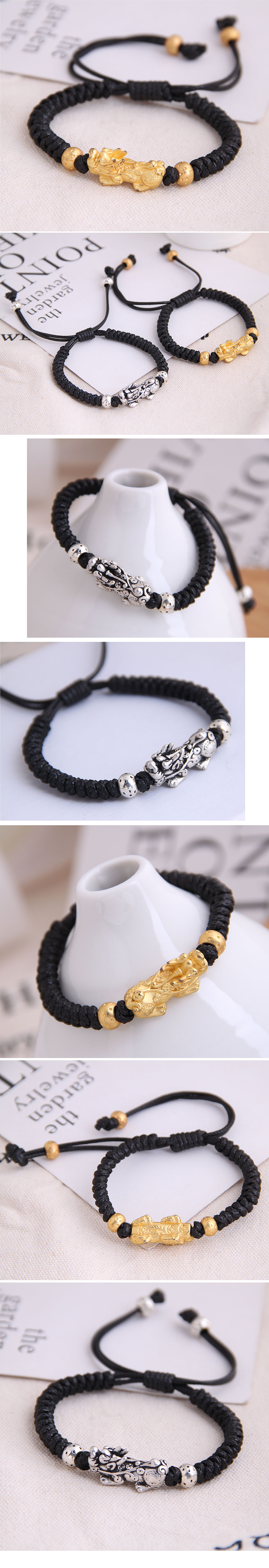 fashion retro trend concise unicorn braided temperament bracelet wholesale nihaojewelry NHSC221075