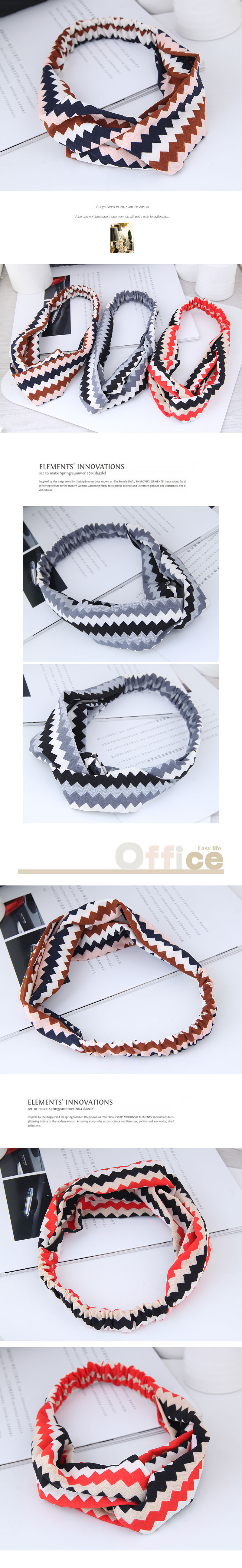 fashion sweet wide-sided platonic hair band  hair band nihaojewelry wholesale cross elastic wide-brimmed hair accessories hair band NHSC214972