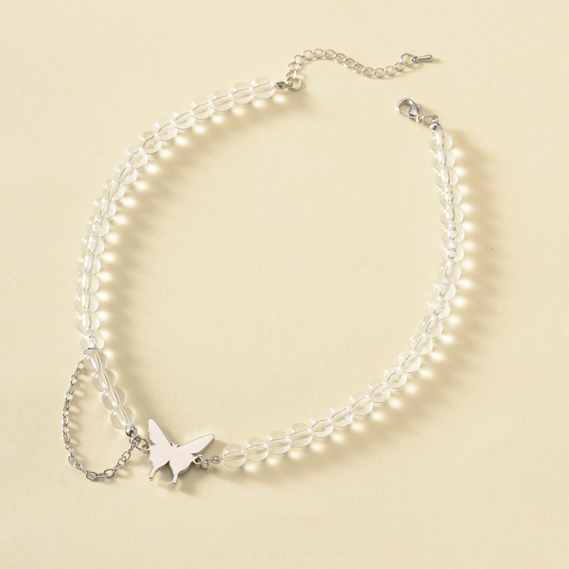 new bohemian crystal butterfly necklace fashion necklace wholesale nihaojewelry NHOT227985