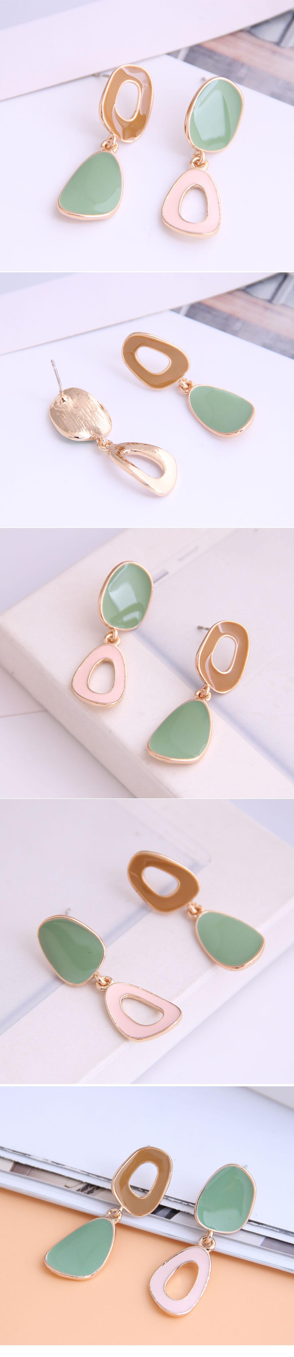 Boutique Korean fashion contrast color drop earrings NHSC228755