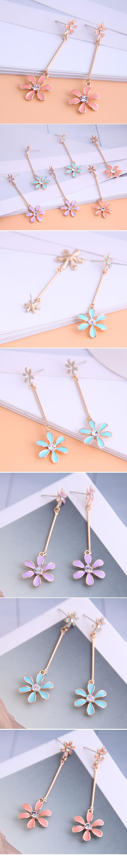Korean fashion  sweet flowers earrings wholesale nihaojewelry NHSC236250