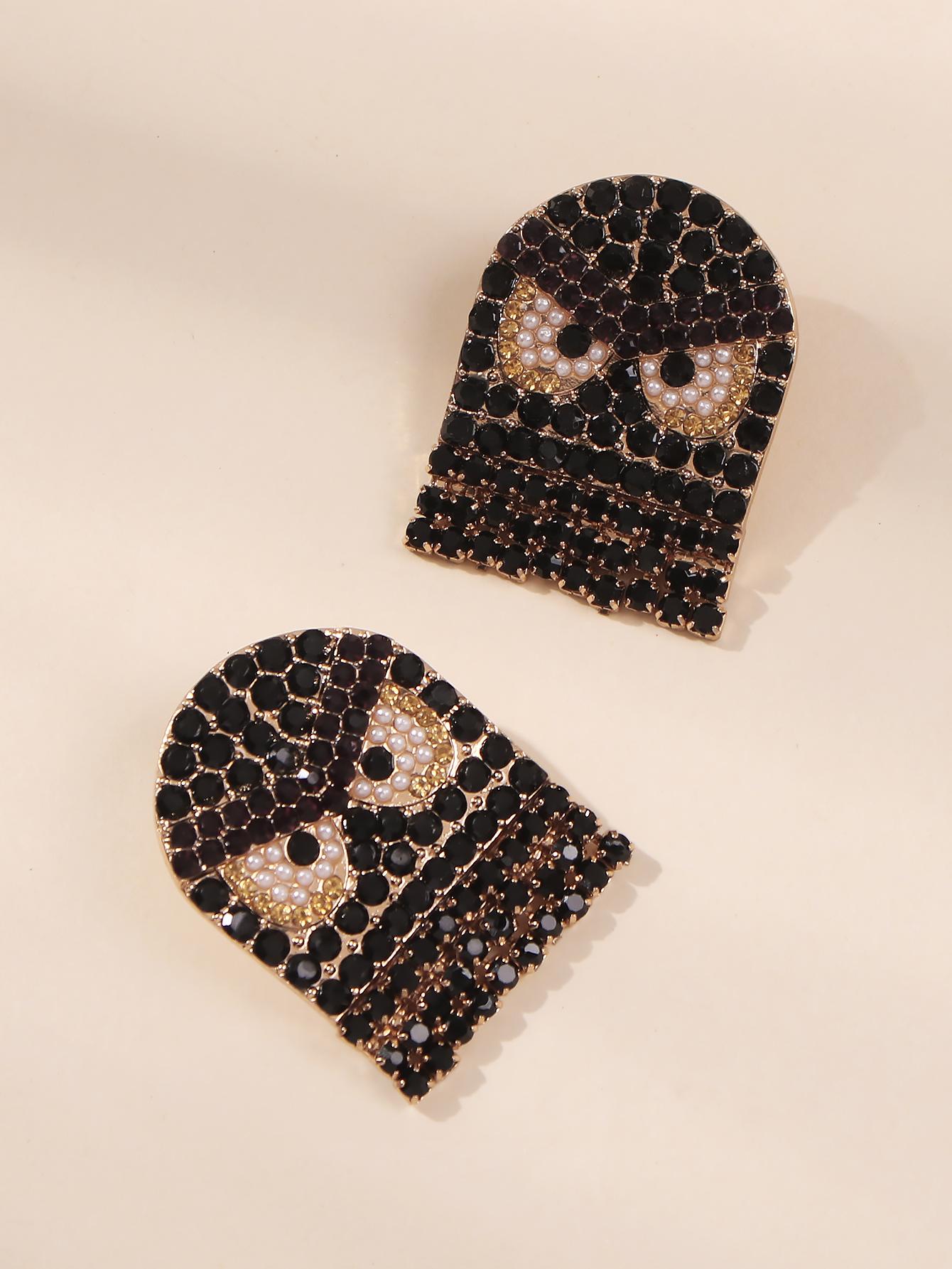 Creative New Angry Birds Fashion Stud Earrings Diamond Pearl Earrings NHMD246370