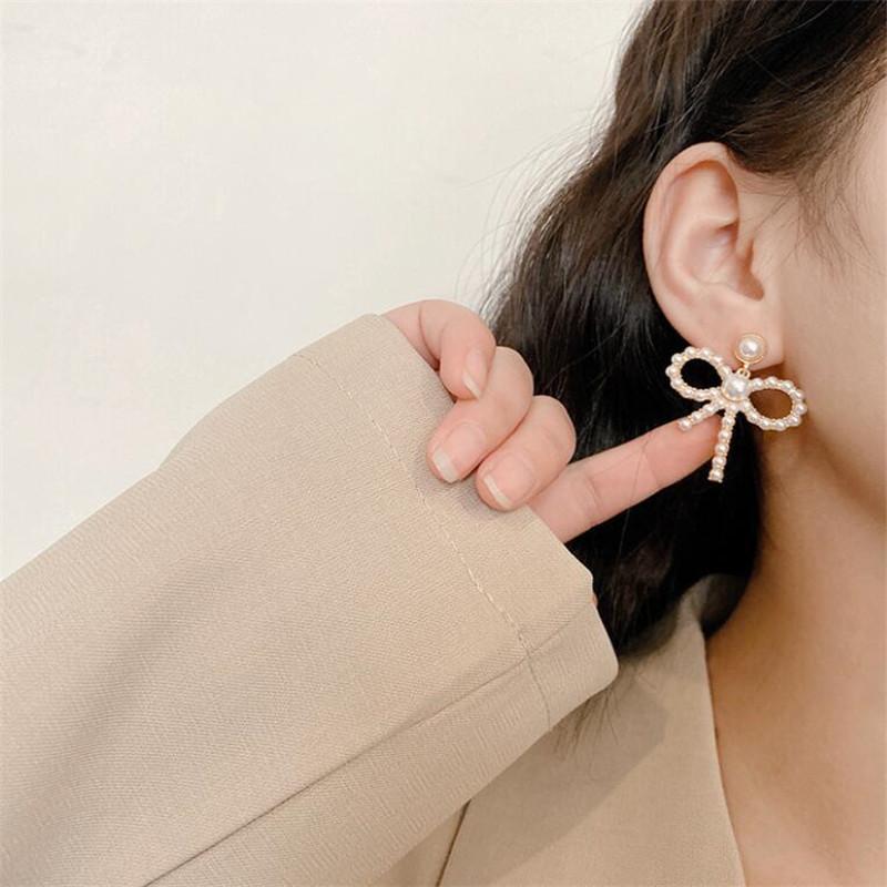 New trend bow earrings  NHOT258349