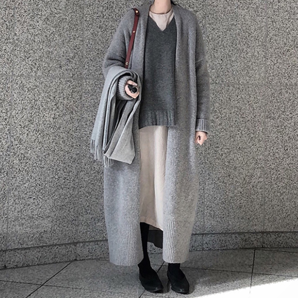 new loose knit sweater over the knee cardigan sweater coat for women NHJG261931