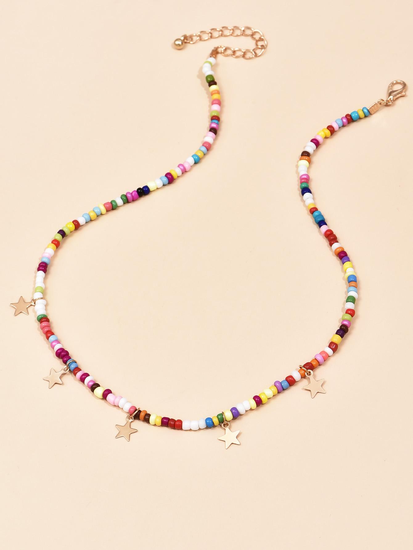 Fashion explosion models blue bead womens necklace  wholesale NHAJ254152