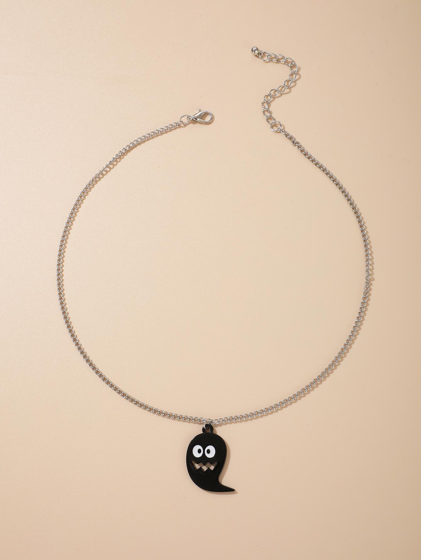 Halloween pumpkin necklace punk alloy necklace wholesale NHGY255912