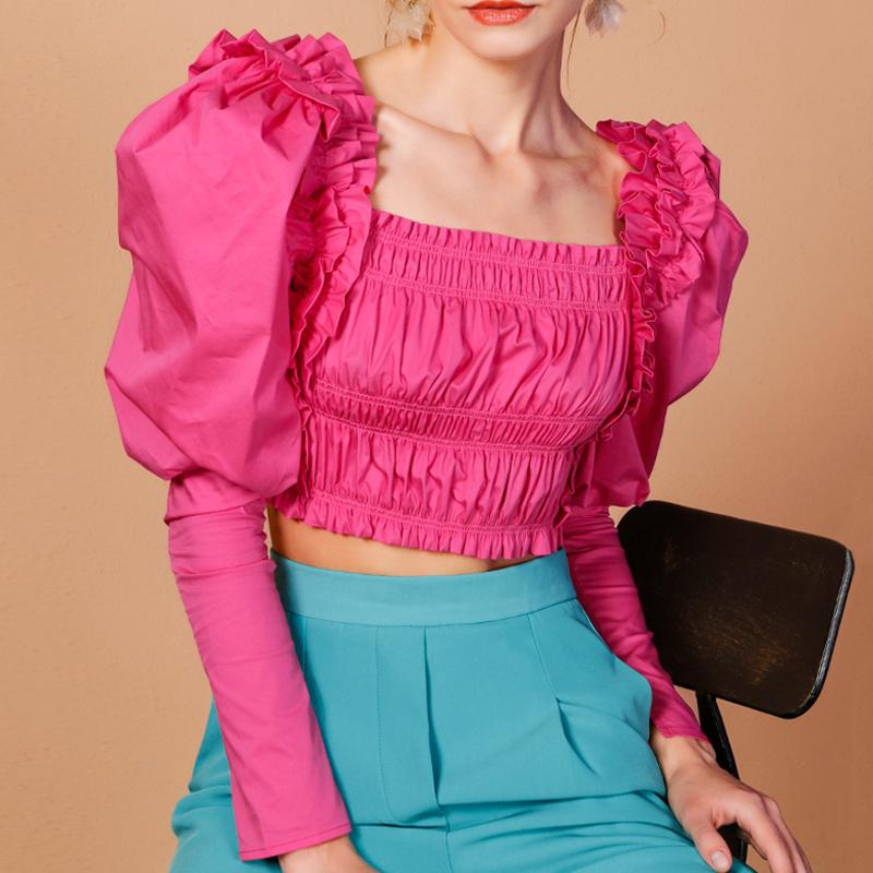 New fashion ruffled shirt  NHUO307313