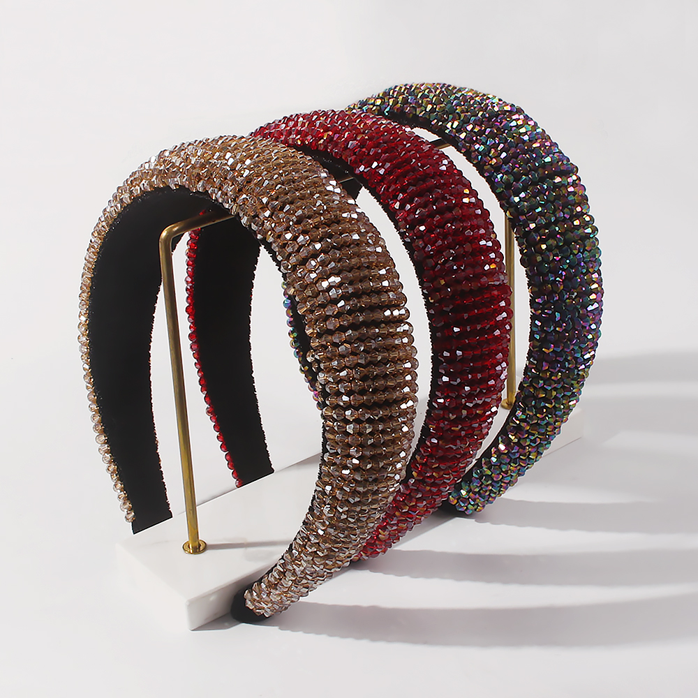 fashion new handmade beaded crystal headband NHMD311441