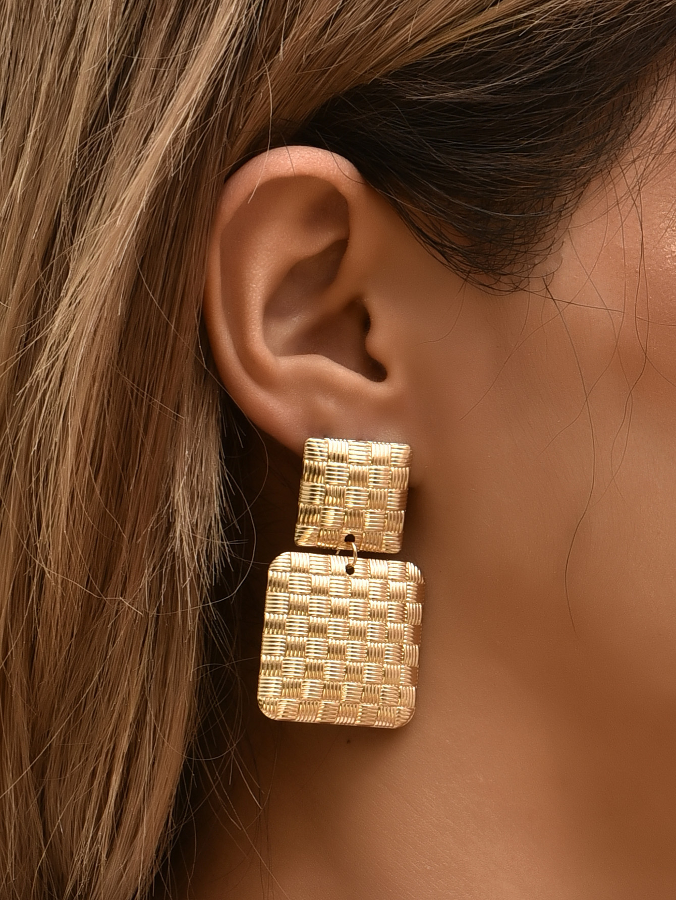 fashion new geometric earrings NHAJ315462