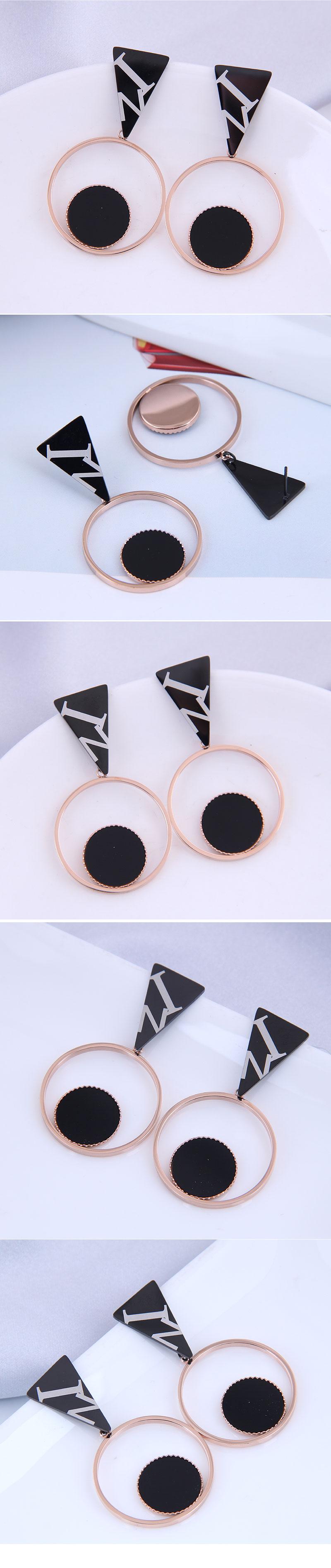 Korean fashion titanium steel wild simple earrings NHSC316255