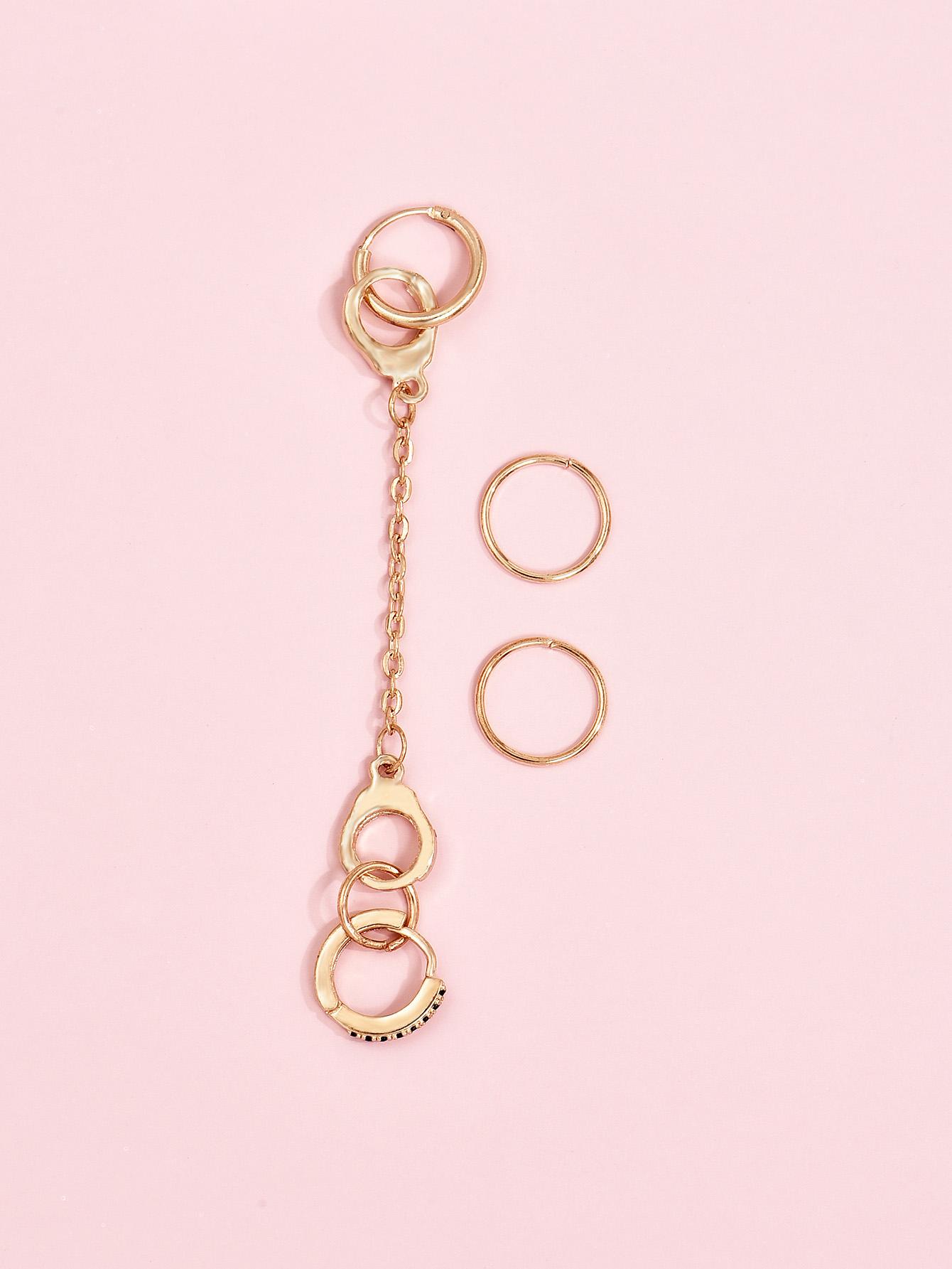 fashion handcuffs earrings  NHAJ316594