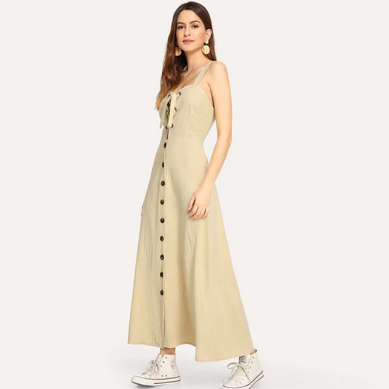 robe sans manches de couleur unie  paules dnudes  la mode NHWA335872