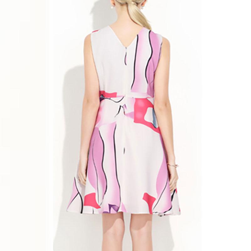 nuevo vestido estampado sin mangas con cuello redondo NHJG334487