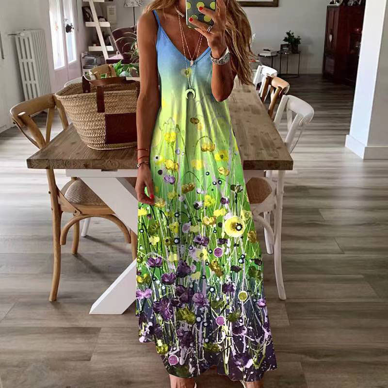 new fashion printed loose dress NHIS334388