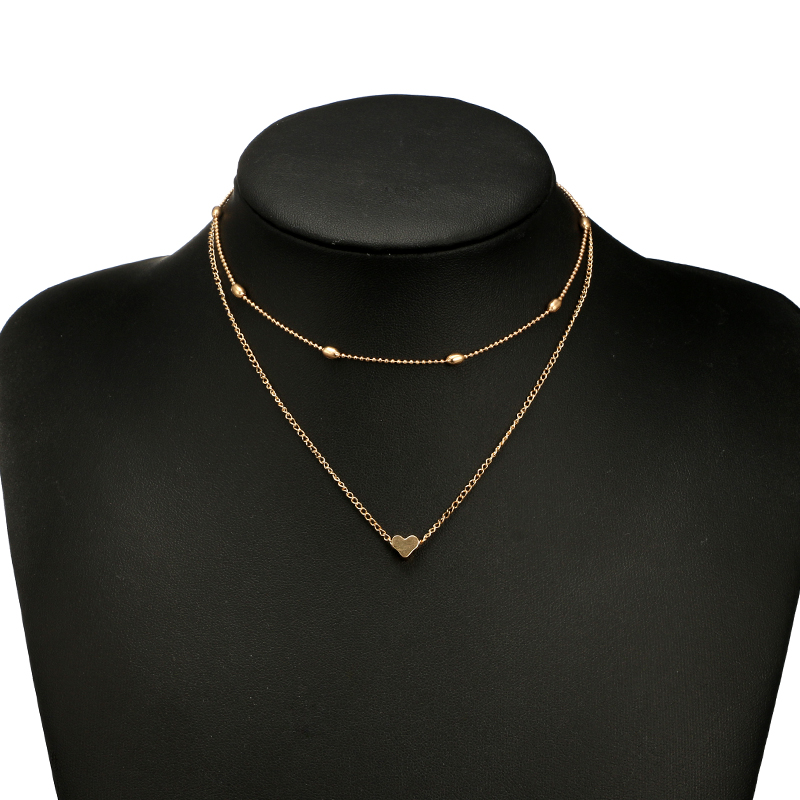new fashion love pendant simple double necklace NHGY335795