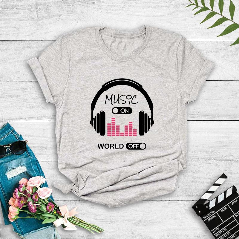 Music Headphones Popular Print Tshirt NHZN335607