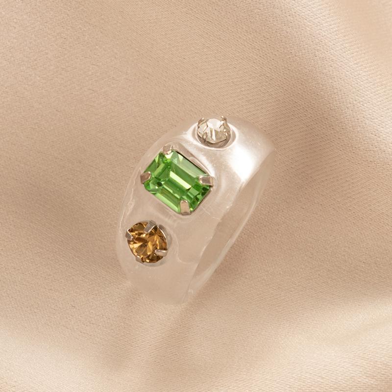 creative acrylic diamond ring NHGY336145
