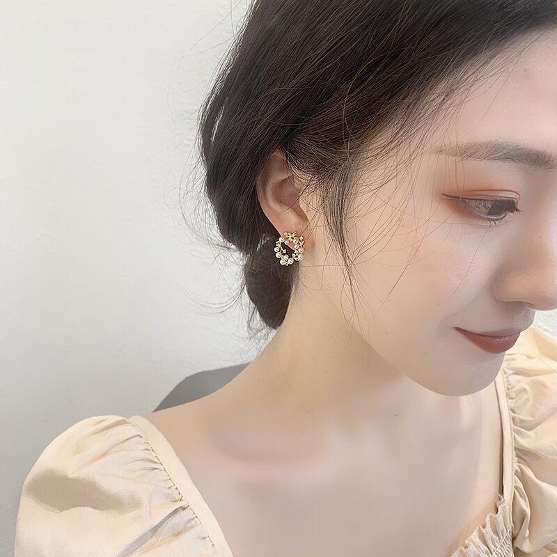 simple pearl garland earrings  NHQC336141
