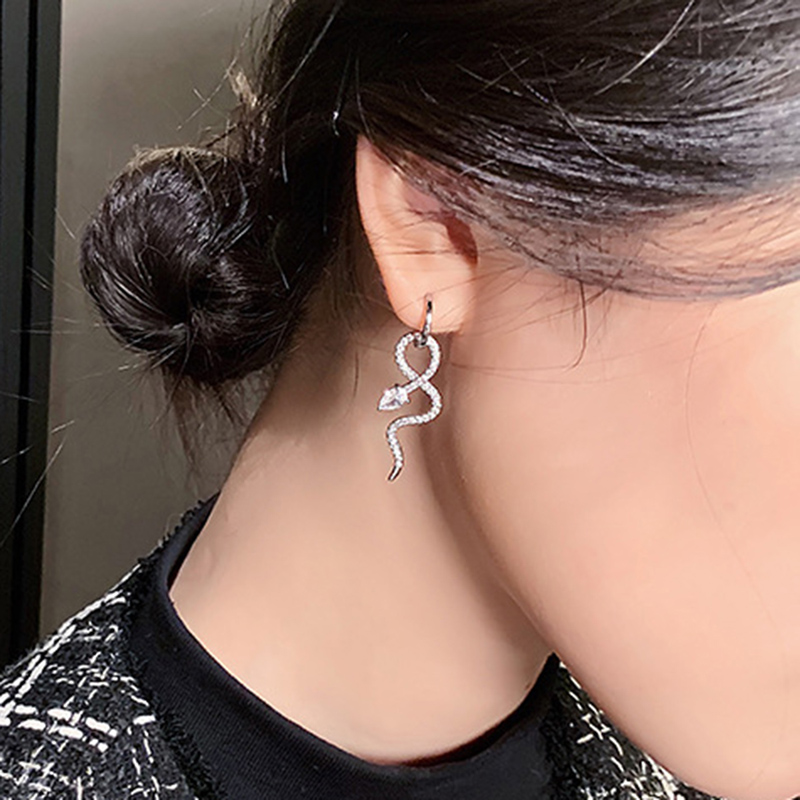 simple fashion snake hoop earrings NHGY336748