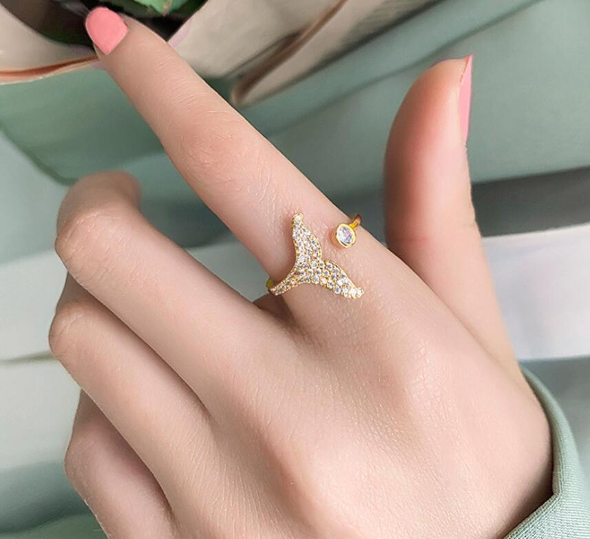 Simple fishtail open ring NHOT336745