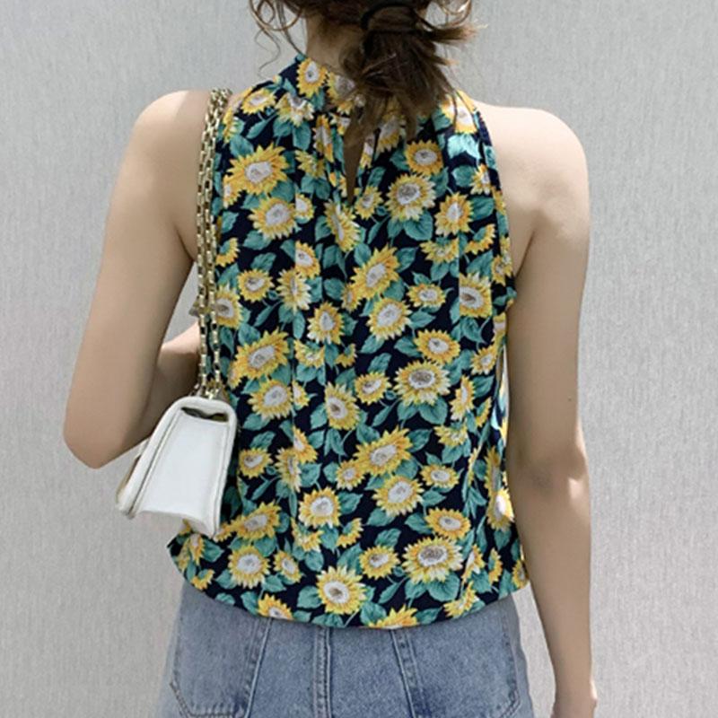 Summer new fashion printed chiffon shirt NHJG336694