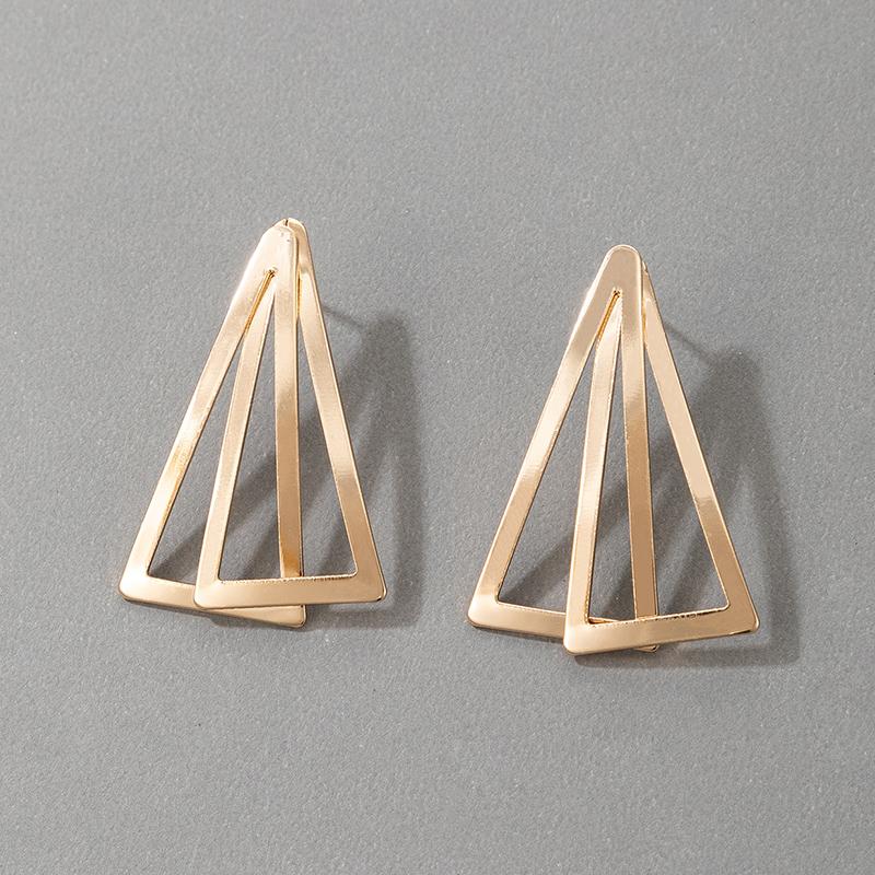 nouvelles boucles d39oreilles triangle gomtriques simples NHGY331173