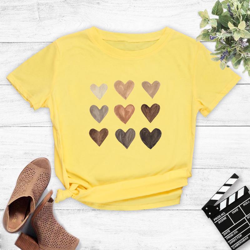 Retro style love print casual Tshirt NHZN333869
