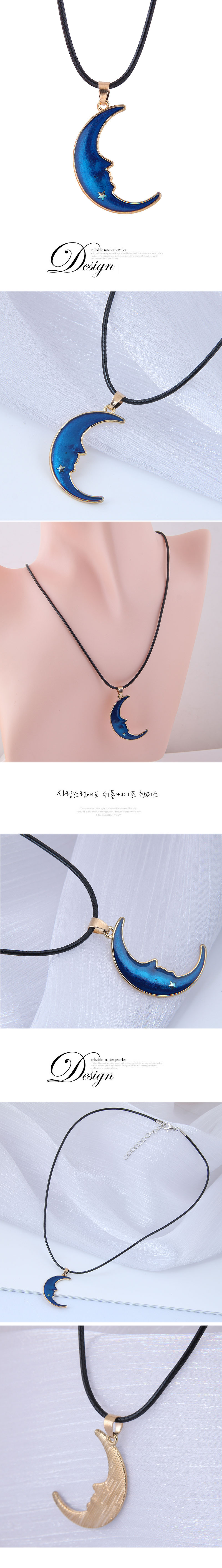 Korean Fashion Concise Meniscus Wax Rope Necklace NHSC348905