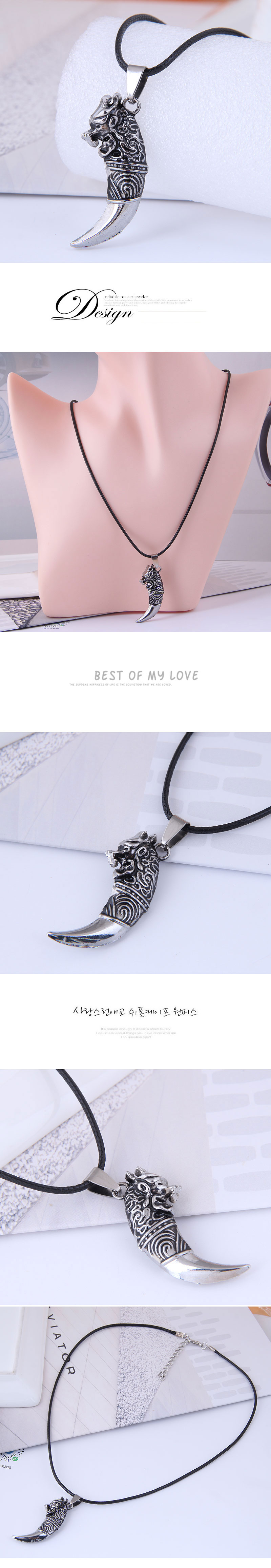 fashion new style metal concise spangled wax rope necklace NHSC359630