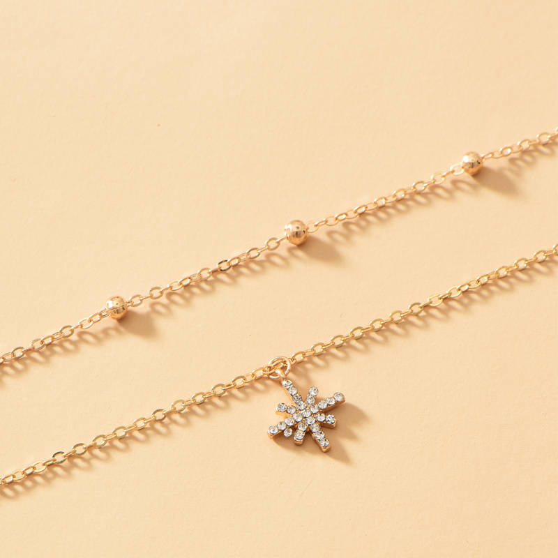 simple fashion new style twolayer necklace NHOT345593
