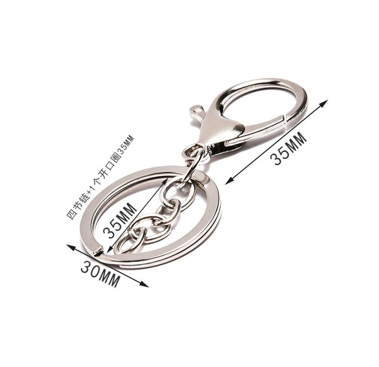 Colorpreserving electroplating lobster buckle key ring pendant DIY NHWQ366965