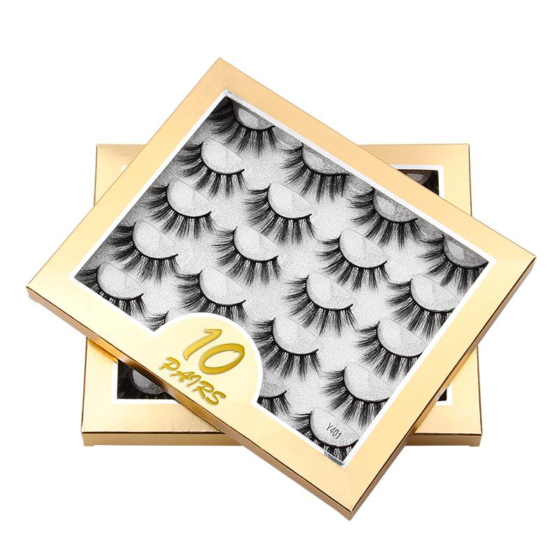 10 pairs of 3d mink false eyelashes thick eyelashes NHLUU367933
