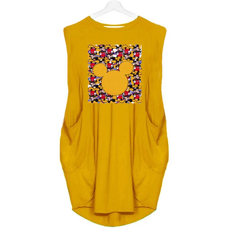 Summer Womens Fashion Sleeveless Round Neck Printed Casual Dress NHKO368266