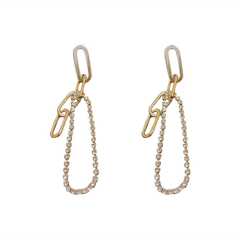 925 silver needle tasselstudded earrings long earrings NHQC368715