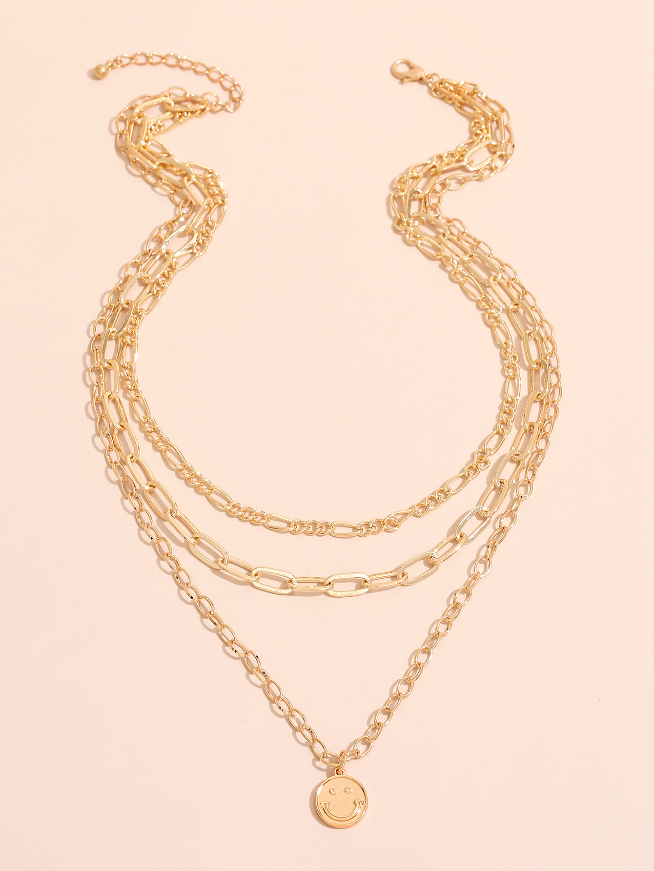 Nihaojewelry wholesale jewelry fashion smiling pendent multilayer necklace NHAJ384663