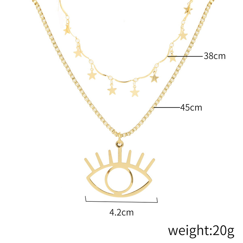 Angels Eye Pendant Necklace Wholesale Multilayer Demons Eye Clavicle Chain NHQC387333